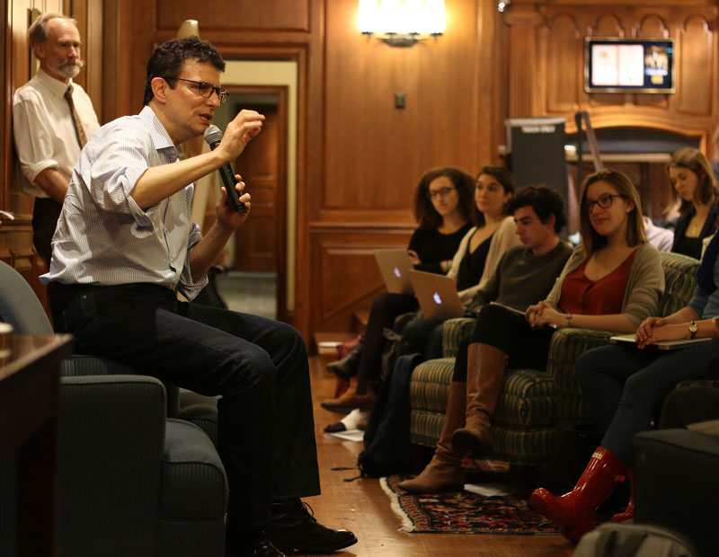 David Remnick, New Yorker editor at Yale, session on